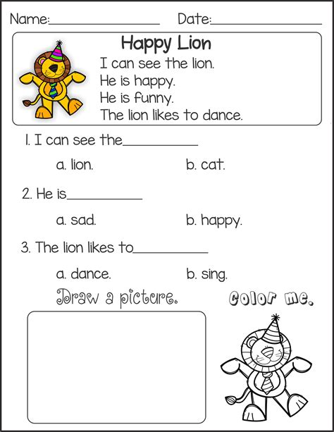 kindergarten english worksheets  coloring pages  kids