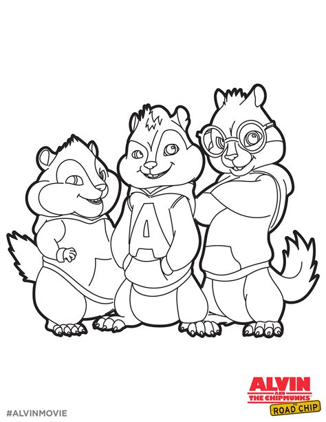Alvin And The Chipmunk Coloring Pages Alvin And The Chipmunks Free Coloring Printable Alvin