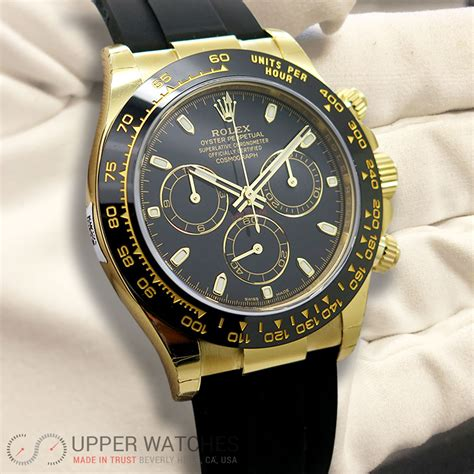 Rolex 116518 LN Cosmograph Daytona 18K Yellow Gold with ...