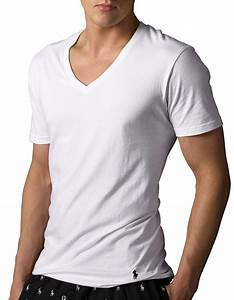 Polo V : polo ralph lauren classic cotton v neck t shirt set in white for men lyst ~ Gottalentnigeria.com Avis de Voitures