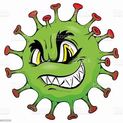 Virus Corona Cartoon Monster Microorganism Sick Being