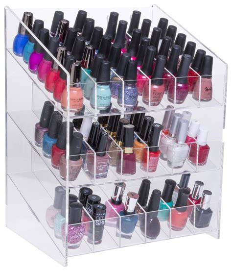 nail display rack nail counter display tri level slide feed lacquer