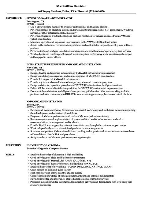 Vmware Administrator Resume Sample | louiesportsmouth.com