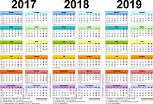 Kalender 18 19 : dreijahreskalender 2017 2018 2019 als pdf vorlagen ~ Jslefanu.com Haus und Dekorationen