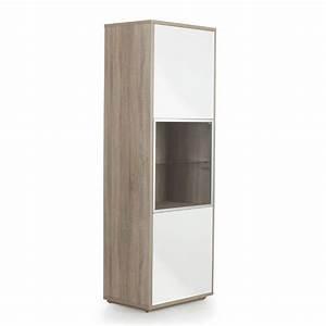 Alinea Meuble Tele : meuble colonne fixer au mur 3 portes imitation ch ne blanc checker les biblioth ques ~ Teatrodelosmanantiales.com Idées de Décoration