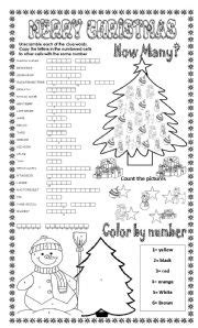 english worksheets merry christmas   activities