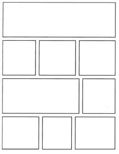 comic strip template pages  creative