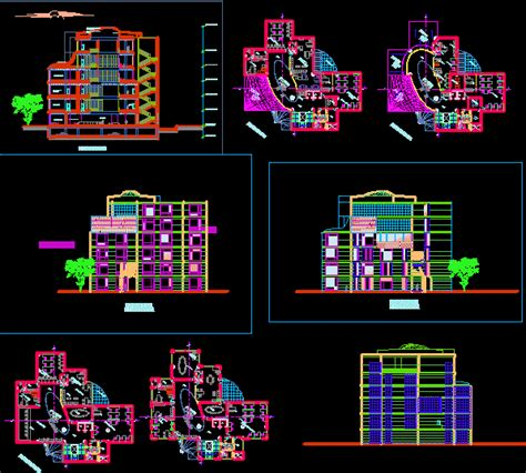 bank design dwg full project  autocad designs cad
