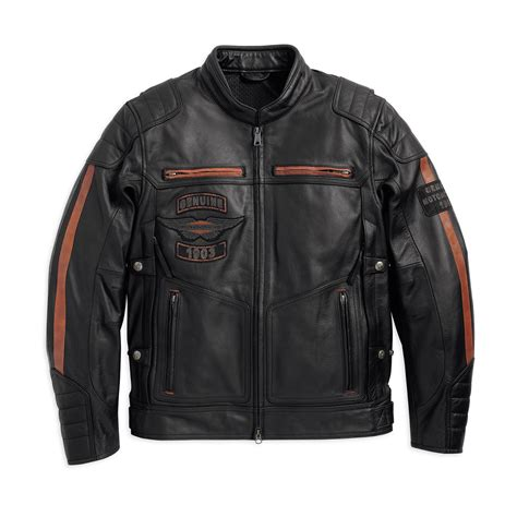 mens leather riding jacket harley davidson mens exmoor triple vent riding leather jacket
