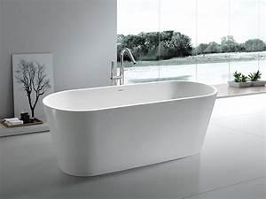 Frei Stehende Badewanne : freistehende badewanne bologna aus mineralguss wei matt oder gl nzend 170x70x63 oval ~ Udekor.club Haus und Dekorationen