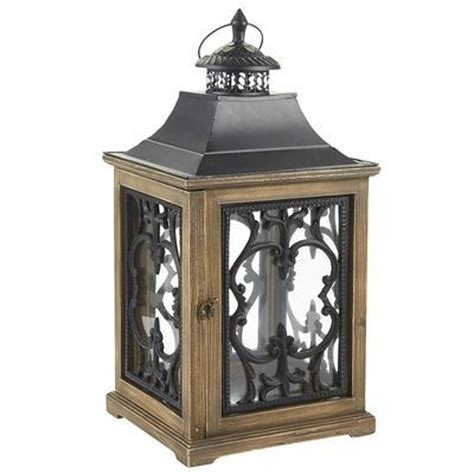 Elegant Wood Scroll Lantern   Just what I am looking for