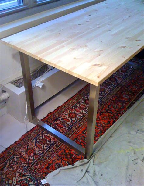 ikea desk tops and legs easy diy desk with ikea table tops and legs