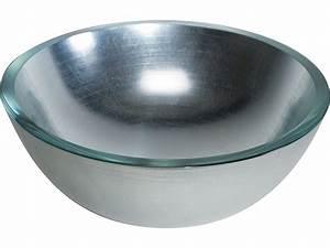 Aufsatzwaschbecken 30 Cm Tief : glaswaschbecken handwaschbecken silber 30cm design lineabeta ~ Indierocktalk.com Haus und Dekorationen