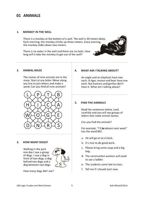 worksheets logic problem solving high school worksheets
