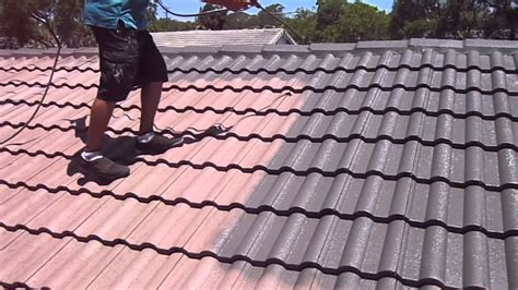 Spray Painting A Residential Roof