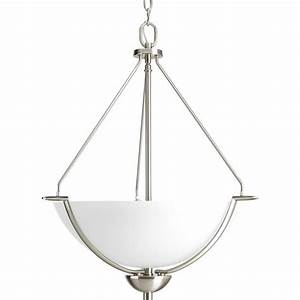 Progress lighting bravo collection light brushed nickel
