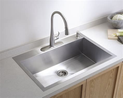 stainless steel kitchen sink stainless steel drop in kitchen sinks the homy design 8813