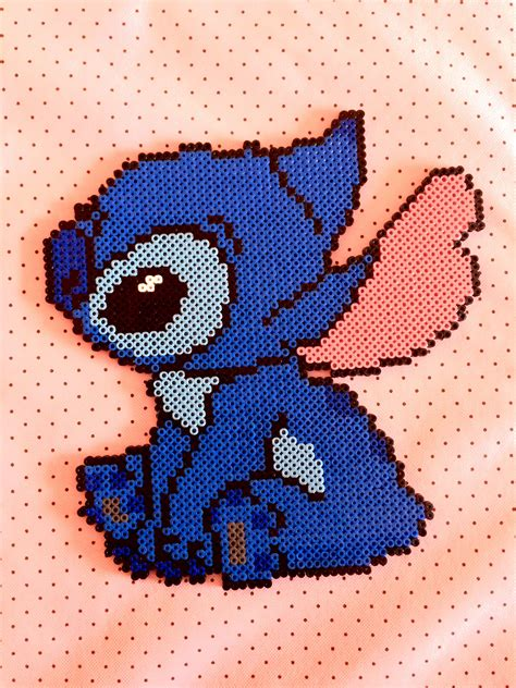 Stitch hama beads perler beads azul disney lilo Sac