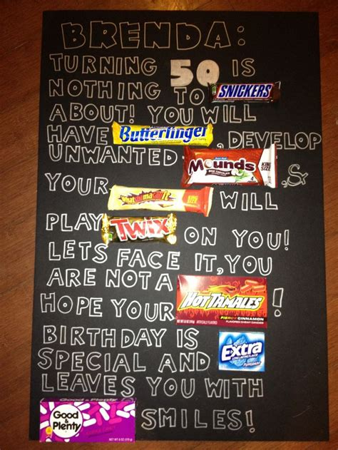 candy bar   hill poster  birthday poster