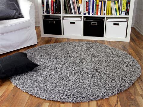 teppich in grau hochflor langflor shaggy teppich aloha grau rund teppiche