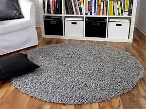 Teppich Langflor Grau : hochflor langflor shaggy teppich aloha grau rund teppiche hochflor langflor teppiche schwarz ~ Orissabook.com Haus und Dekorationen
