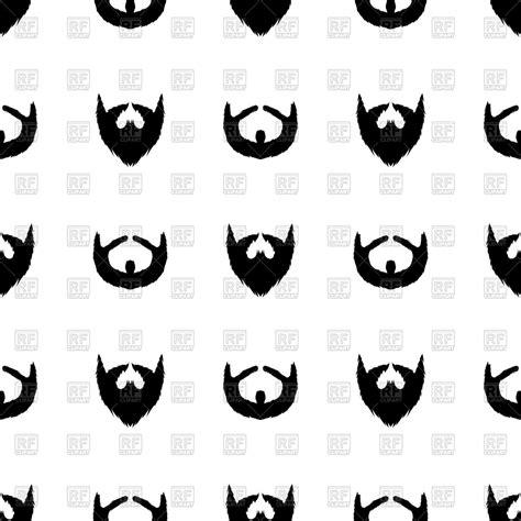 Beard silhouette seamless pattern Vector Image – Vector ...