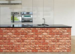 Red Brown Brick Effect Wallpaper Self Adhesive Vinyl ...