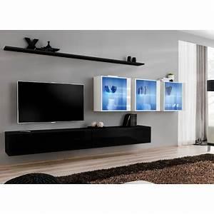 Meuble Tele Moderne : meuble tv moderne suspendu costa 17 cbc meubles ~ Teatrodelosmanantiales.com Idées de Décoration