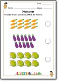grade vegetables counting worksheetteachers printables