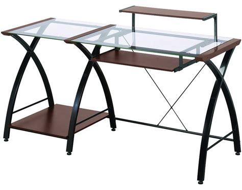 z line glass desk z line glass computer desk for home office