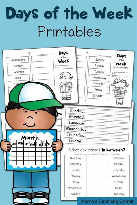 days   week printables  homeschool deals