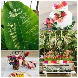 Deco Table Tropical : id es d co pour un mariage tropical table d 39 honneur pinterest mariage th me tropical ~ Teatrodelosmanantiales.com Idées de Décoration