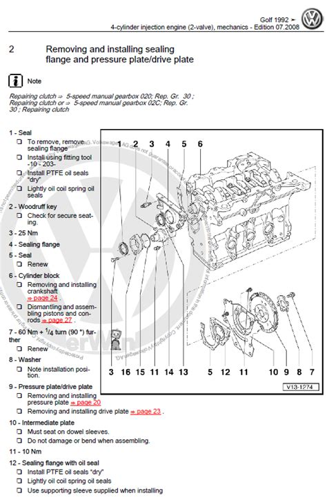 volkswagen golf mk   repair manual factory manual