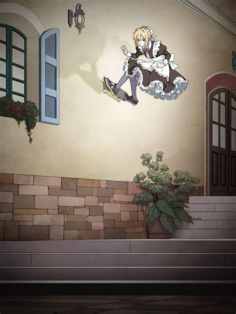 japanese illustrator suzusiro puts maids  skateboards