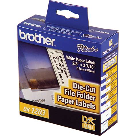 Smarttraxx software includes robust label printing capabilities enabling labels to be printed for file folders and archive boxes. Brother DK1203 File Folder Paper Labels DK1203 B&H Photo Video