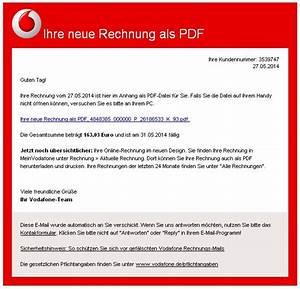 Vodafone Kundenservice Rechnung : vodafone gef lschte oder unerw nschte e mail ralf sieburg ~ Themetempest.com Abrechnung