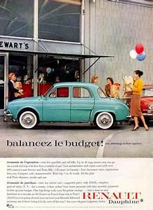 Renault Castelginest : renault dauphine 1959 vintage cars advertisement features car ~ Gottalentnigeria.com Avis de Voitures