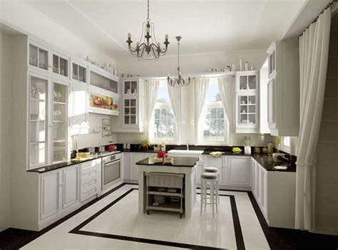 u shaped kitchen designs with island مساحات واسعة بالمطابخ على شكل حرف يو المرسال 9513