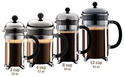 Water for french press coffee should be heated to 195°f. Online calculator to find the ratio of coffee to water for any size french press. Simply ent ...