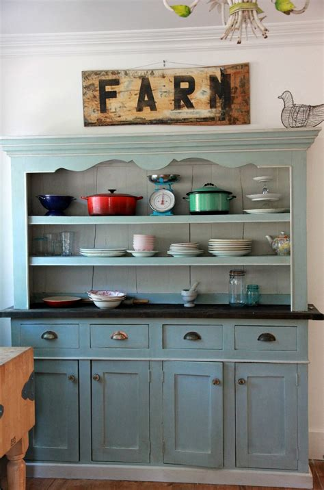 Kitchen Sideboard Hutch by Duck Egg Blue And Grey Kitchen Hutch Redo