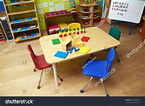 Montessori Kindergarten Preschool Classroom Stock Photo ...