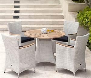 Gartenmöbel Tisch Rund : zebra tisch loomus 1m rund 2fb polyrattan gartenm bel art jardin ~ Indierocktalk.com Haus und Dekorationen
