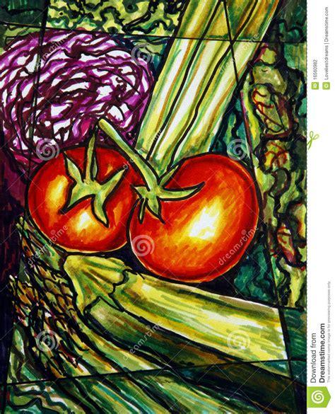 vegetables painting stock illustration illustration