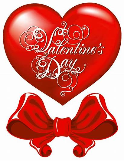 Clipart Heart Valentine Valentines Clip Bow