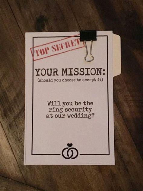 wedding party proposal card  card  ring bearer