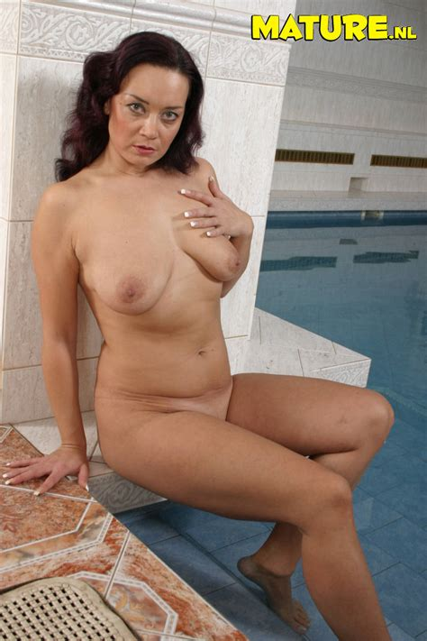 hot milf having sex at the pool
