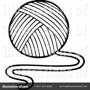 Yarn Clipart 1266777 Illustration By Visekart Ball Of Yarn ...