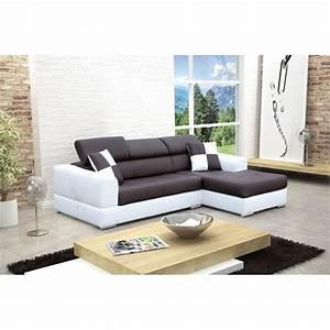 canape d angle droit design noir et blanc madrid achat With canapé droit design