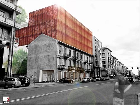 apartments wrapped  playful corten steel facade