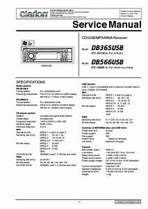 Clarion Db365usb 566usb Service Manual Download  Schematics  Eeprom  Repair Info For Electronics